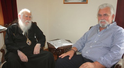 Η επίσκεψη του νέου δημάρχου Ήλιδας στον μητροπολίτη