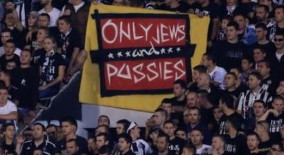 Ρατσιστικό πανό από οπαδούς της Παρτιζάν!