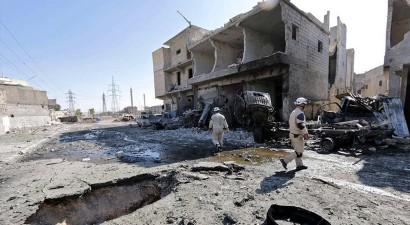 Συρία: 48 νεκροί από τους βομβαρδισμούς της πόλης Ταλμπισέχ