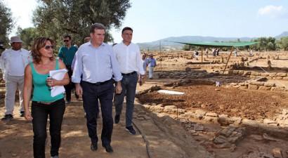Ο Μιχάλης Χρυσοχοΐδης στην αρχαία πόλη της Αλίκυρνας (ΦΩΤΟ)