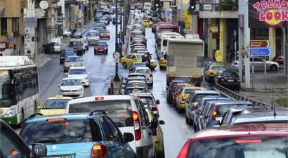 Κυκλοφοριακό κομφούζιο στο κέντρο της Αθήνας λόγω κακοκαιρίας