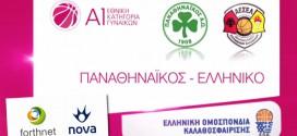 Α1 Γυναικών: Παναθηναϊκός – Ελληνικό