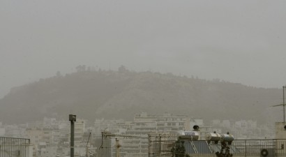 "Aφρικανική σκόνη ""έπνιξε"" την Αθήνα"
