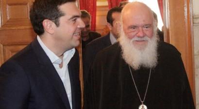 Mαζί δείπνησαν Ιερώνυμος -Τσίπρας στην Αρχιεπισκοπή