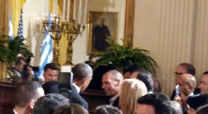 Ολιγόλεπτη συνάντηση Ομπάμα- Βαρουφάκη στο Λευκό Οίκο