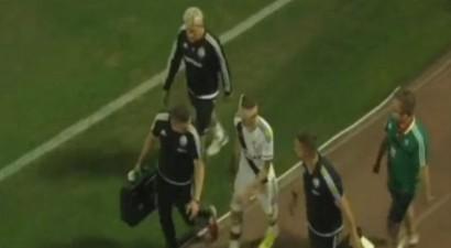 Αλβανία: Πέταξαν πέτρα στο κεφάλι ποδοσφαιριστή της Λέγκια (βίντεο)