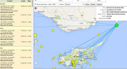 """""""Κουνήθηκε"""" η Κύπρος από τον σεισμό των 5,2R"""