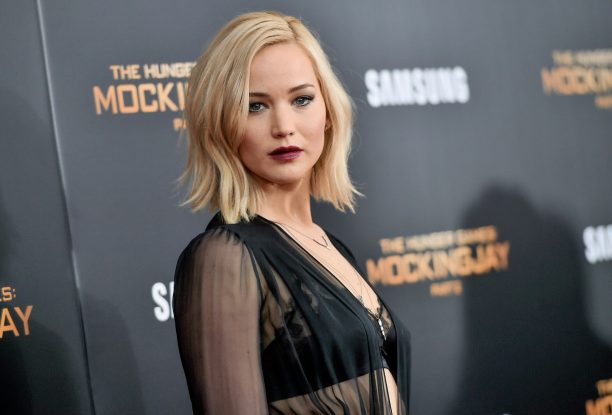 """Actress Jennifer Lawrence attends a special screening of """"The Hunger Games: Mockingjay Part 2"""" at the AMC Loews Lincoln Square on Wednesday, Nov. 18, 2015, in New York. (Photo by Evan Agostini/Invision/AP)"""