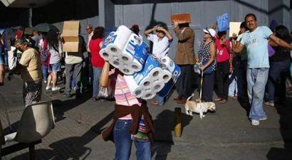 Ύφεση ρεκόρ βλέπει στη Βενεζουέλα το ΔΝΤ