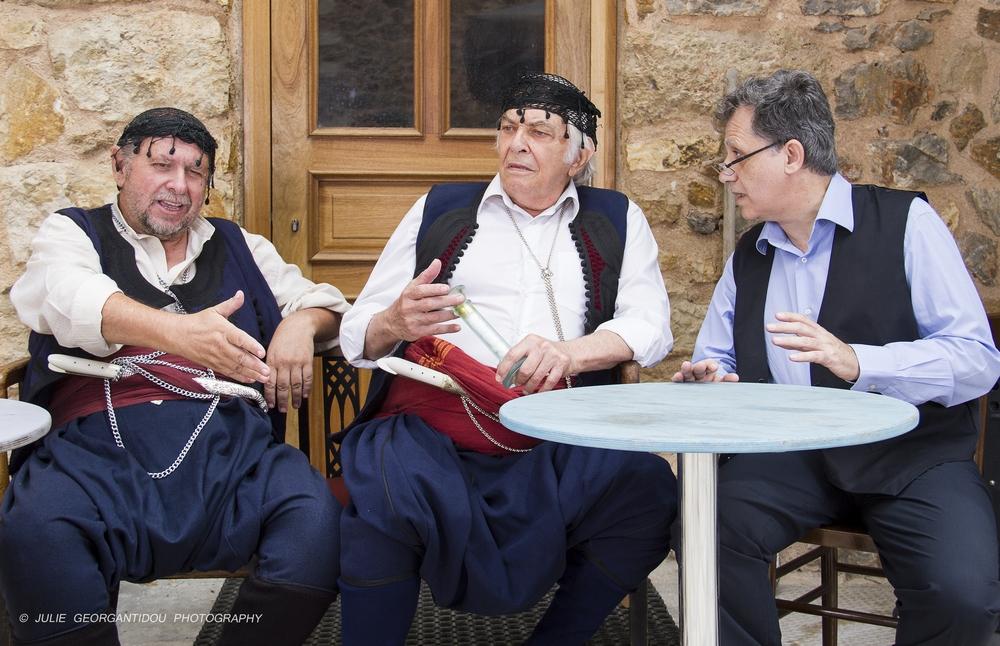 Πάνος Σκουρολιάκος, Τέλης Ζώτος, Νίκος Τσεργάς