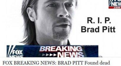 Πανικός με τον θάνατο του Μπραντ Πιτ