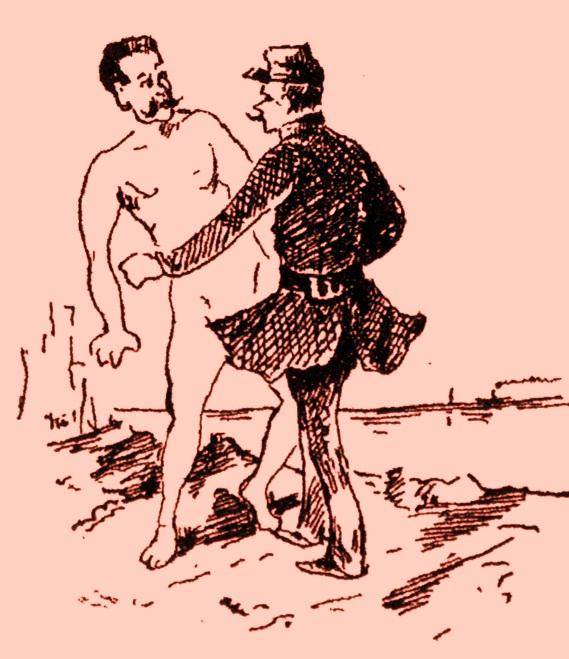 Η αντιμετώπιση του γυμνισμού στο Φάληρο, με την κατάσχεση των ρούχων των γυμνιστών