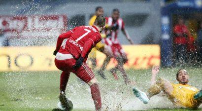 Σκόνταψε στη λασπωμένη Τρίπολη ο Ολυμπιακός (0-0)