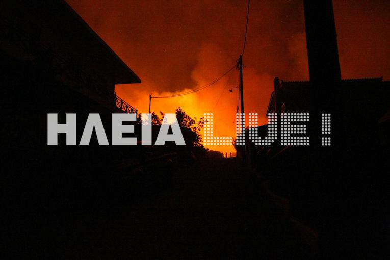 Εικόνα από την φωτιά στην Ηλεία